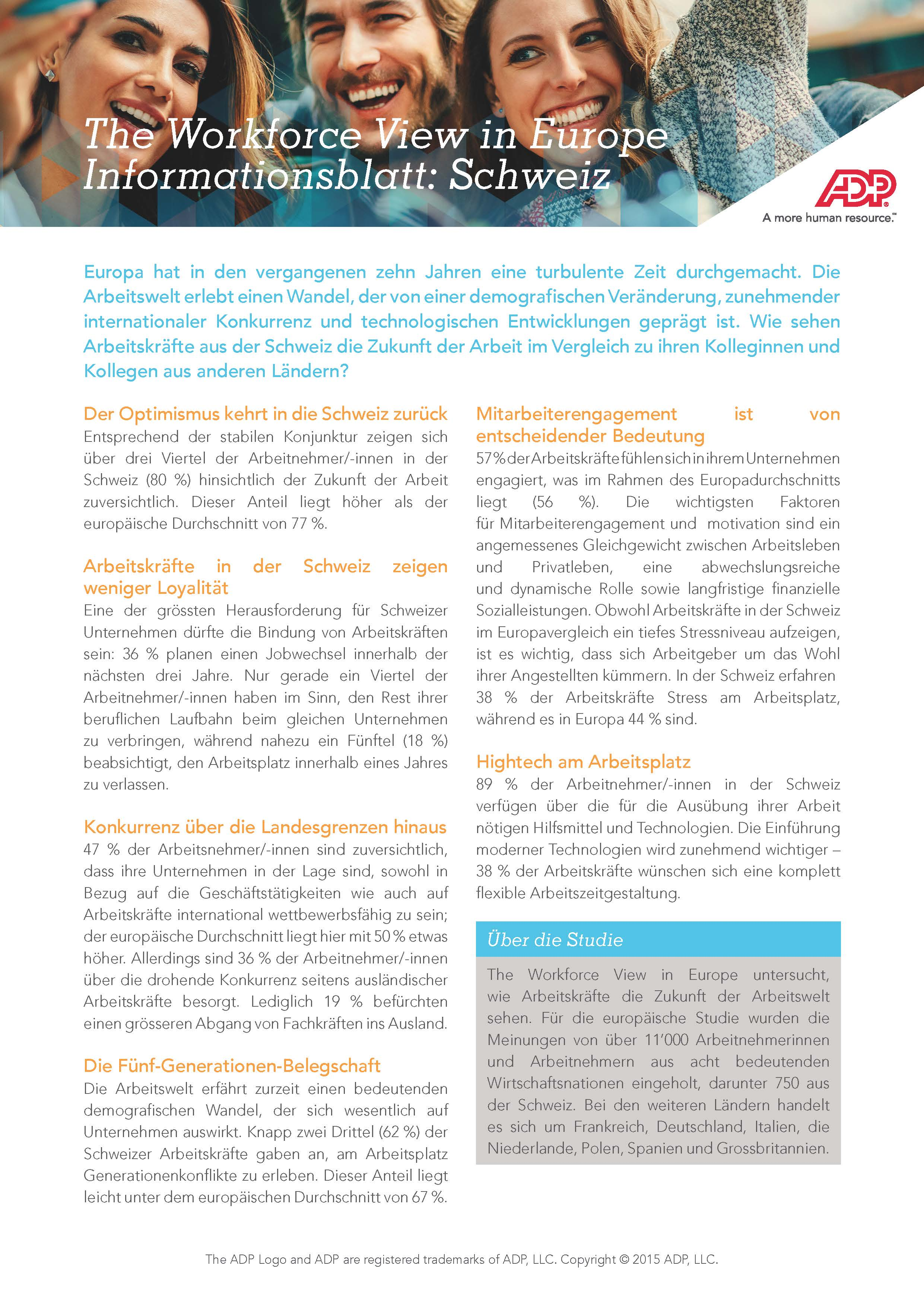 The Workforce View in Europe Swiss Factsheet