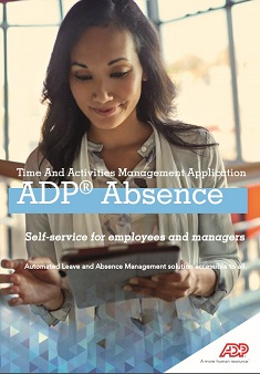 ADP® Absence: Time And Activities Management Application